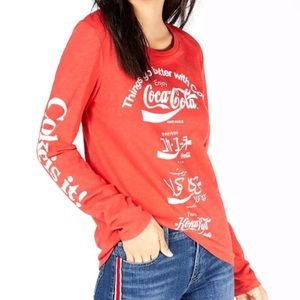 LUCKY BRAND Coca-Cola Long Sleeve Tee T-Shirt XS